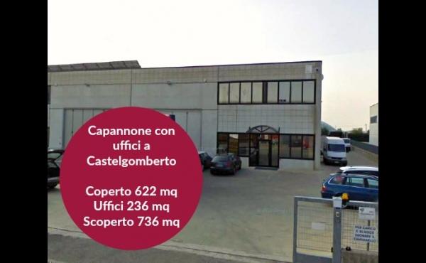 Capannone con area scoperta a Castelgomberto